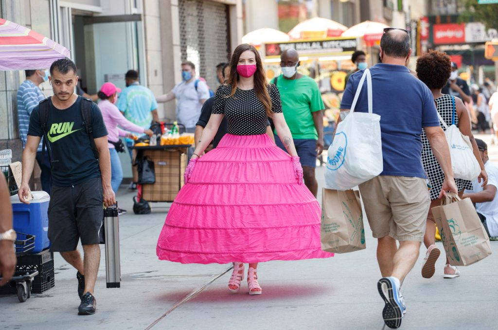 I wore a ridiculous hoop skirt for stylish social distancing
