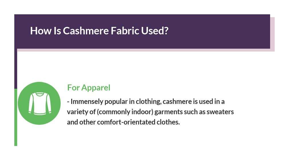 cashmere fabric used
