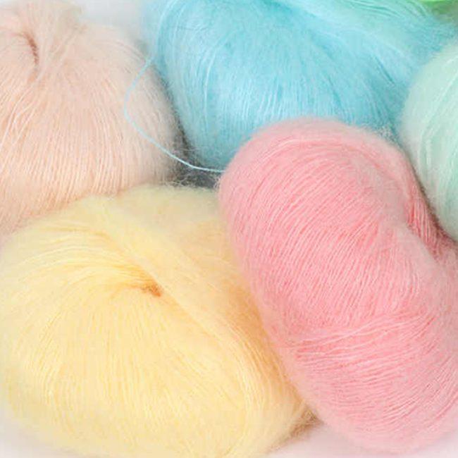 Angora wool fabric